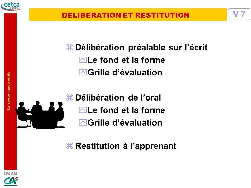 DELIBERATION ET RESTITUTION