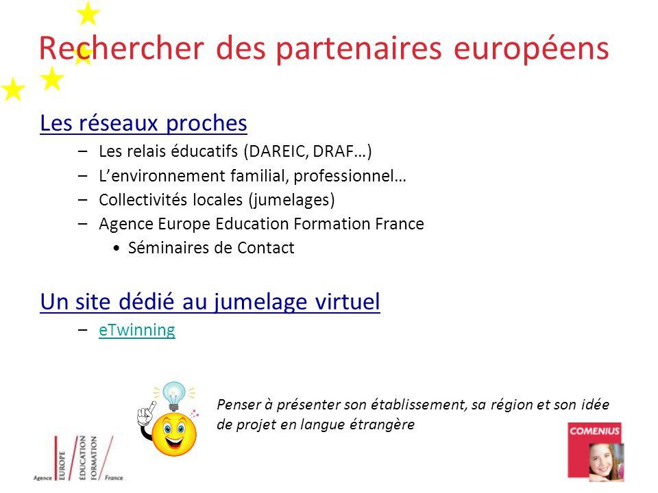 Rechercher des partenaires européens