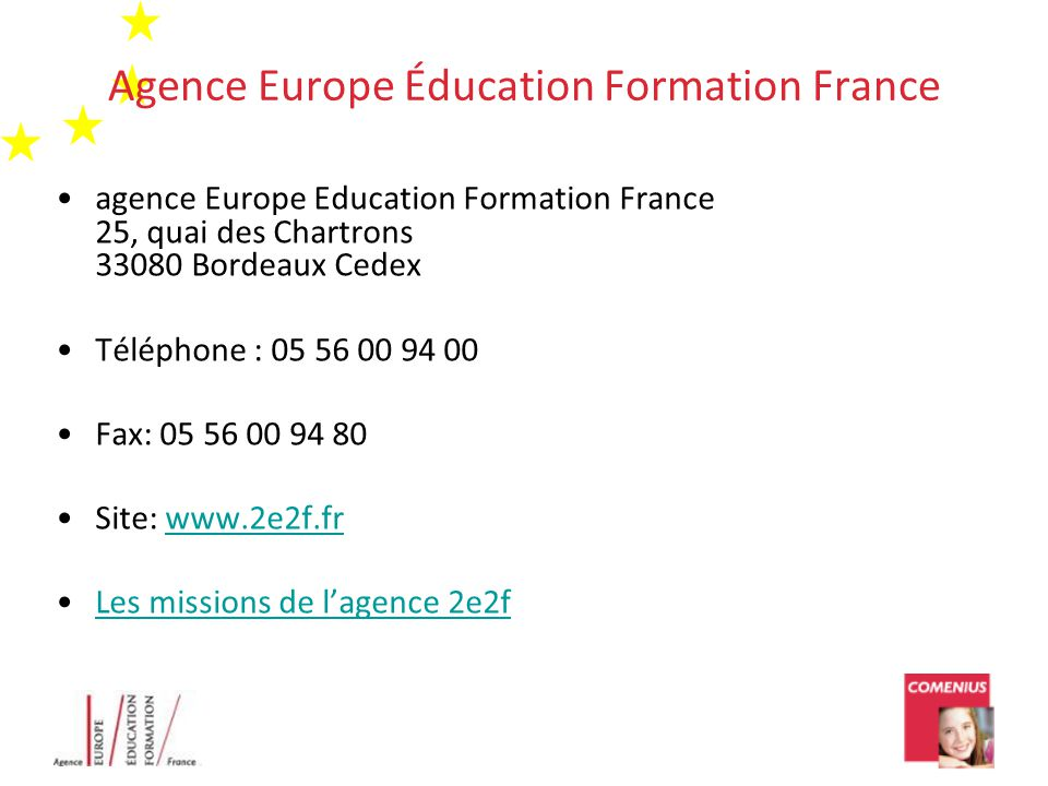 Agence Europe Éducation Formation France