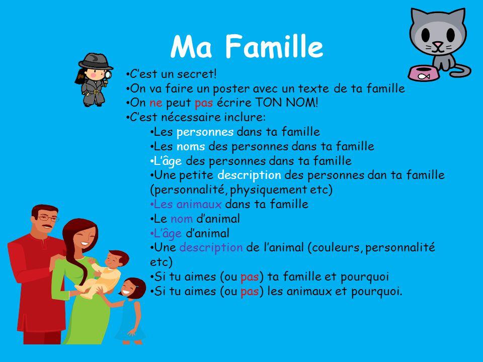 Ma Famille C'est un secret!