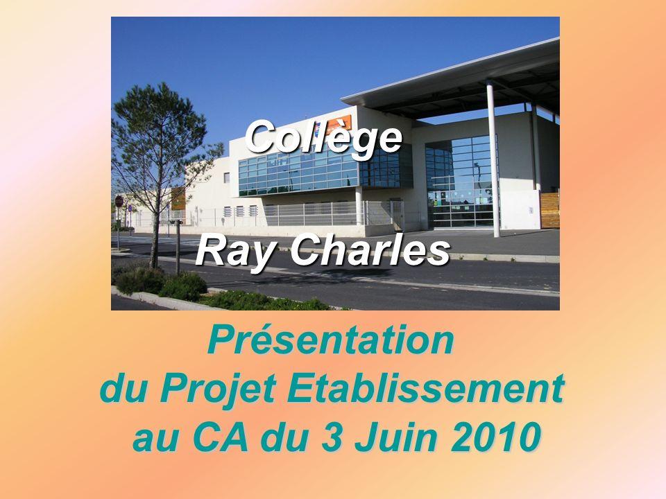 Présentation du Projet Etablissement au CA du 3 Juin 2010