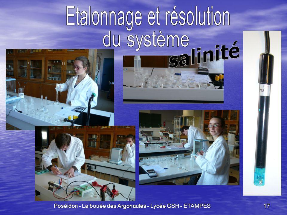 salinité Etalonnage et résolution du système