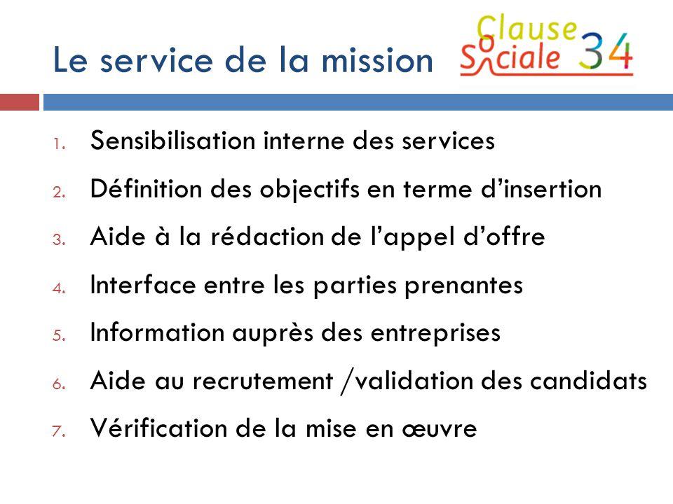 Le service de la mission
