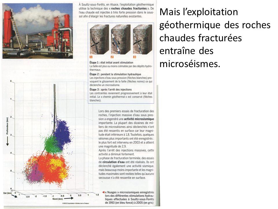 Mais l'exploitation géothermique des roches chaudes fracturées entraîne des microséismes.