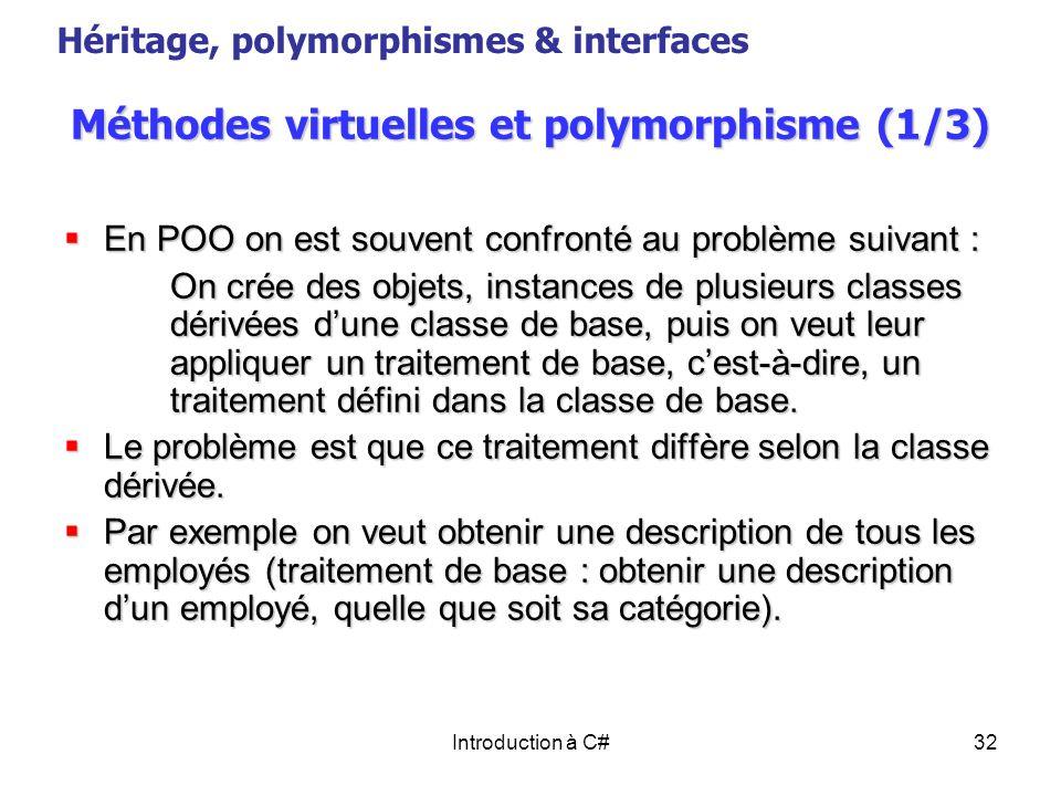 Méthodes virtuelles et polymorphisme (1/3)