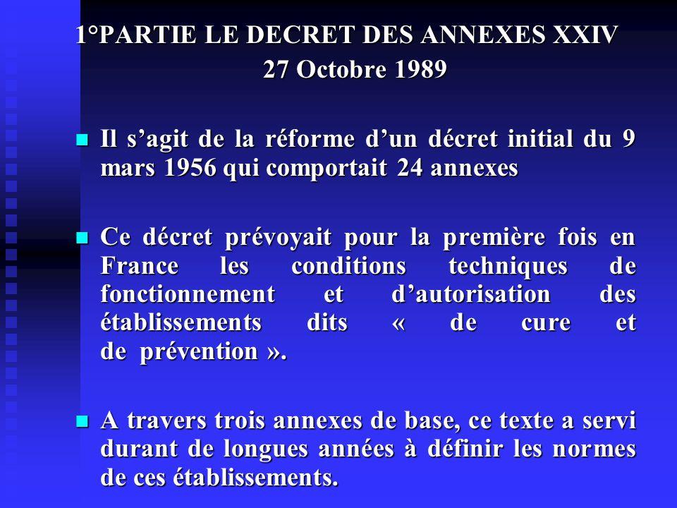 1°PARTIE LE DECRET DES ANNEXES XXIV