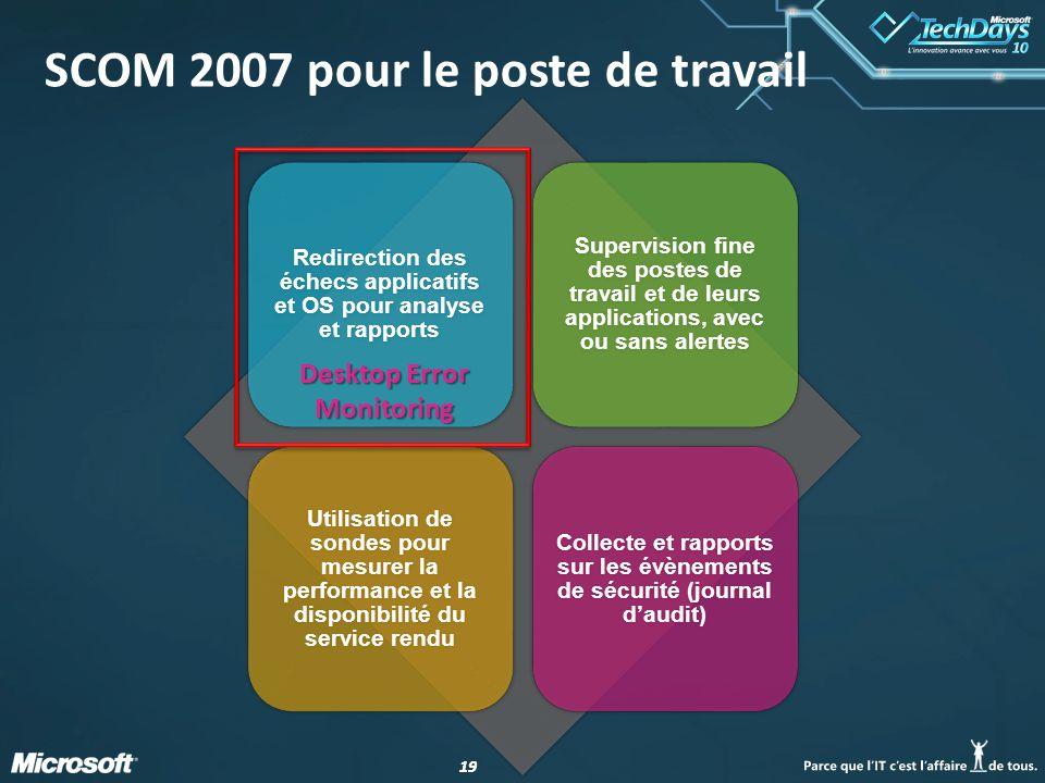 SCOM 2007 pour le poste de travail