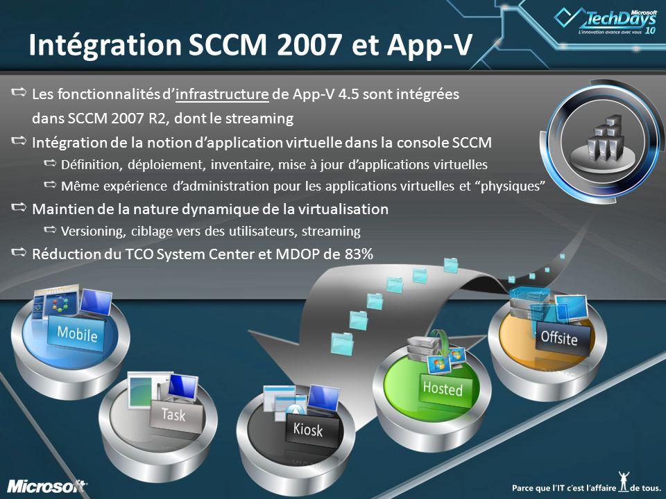 Intégration SCCM 2007 et App-V