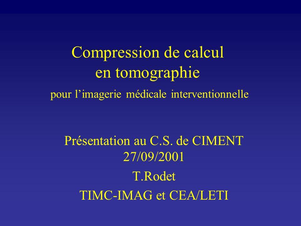 Présentation au C.S. de CIMENT 27/09/2001
