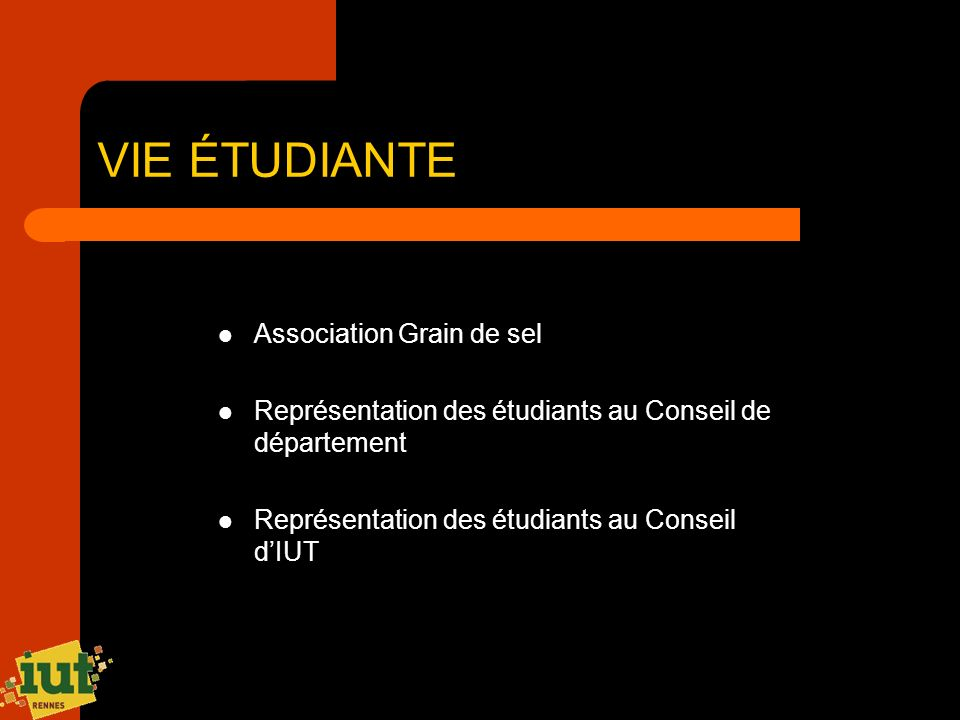 VIE ÉTUDIANTE Association Grain de sel