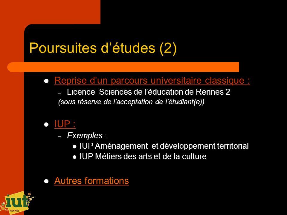 Poursuites d'études (2)