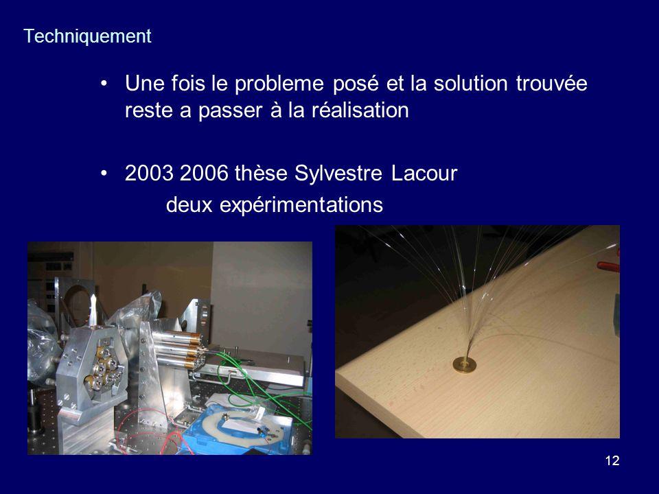 2003 2006 thèse Sylvestre Lacour deux expérimentations