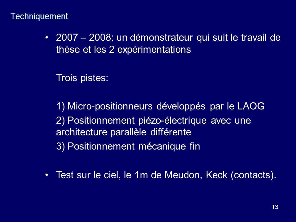 1) Micro-positionneurs développés par le LAOG