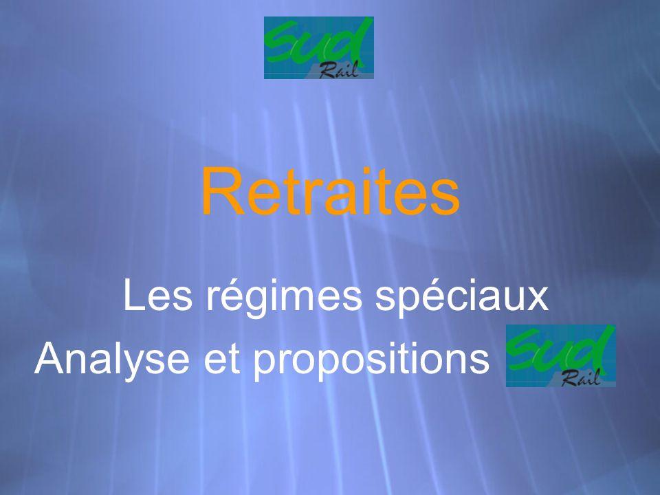 Les régimes spéciaux Analyse et propositions