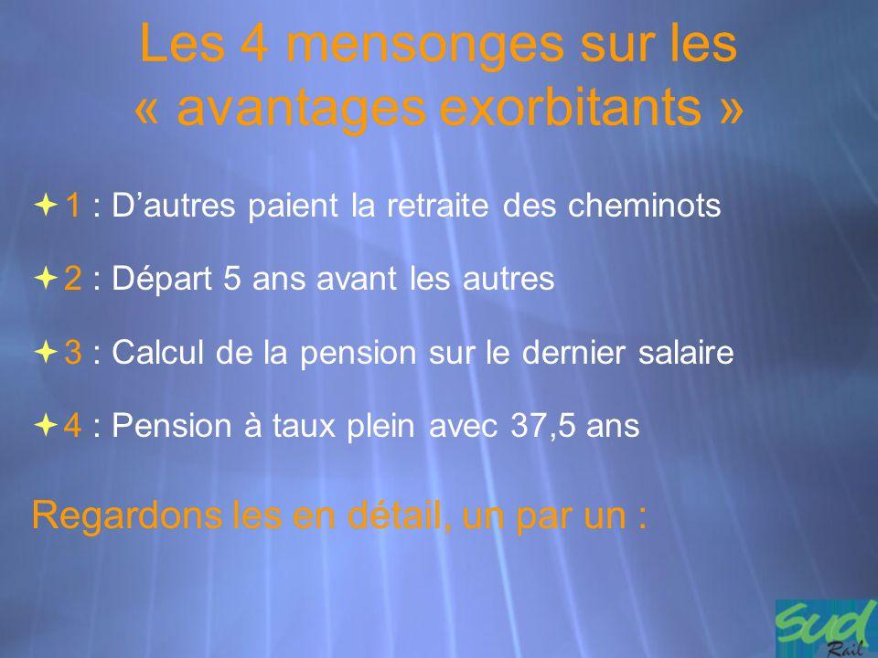 Les 4 mensonges sur les « avantages exorbitants »