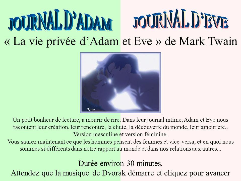 « La vie privée d'Adam et Eve » de Mark Twain