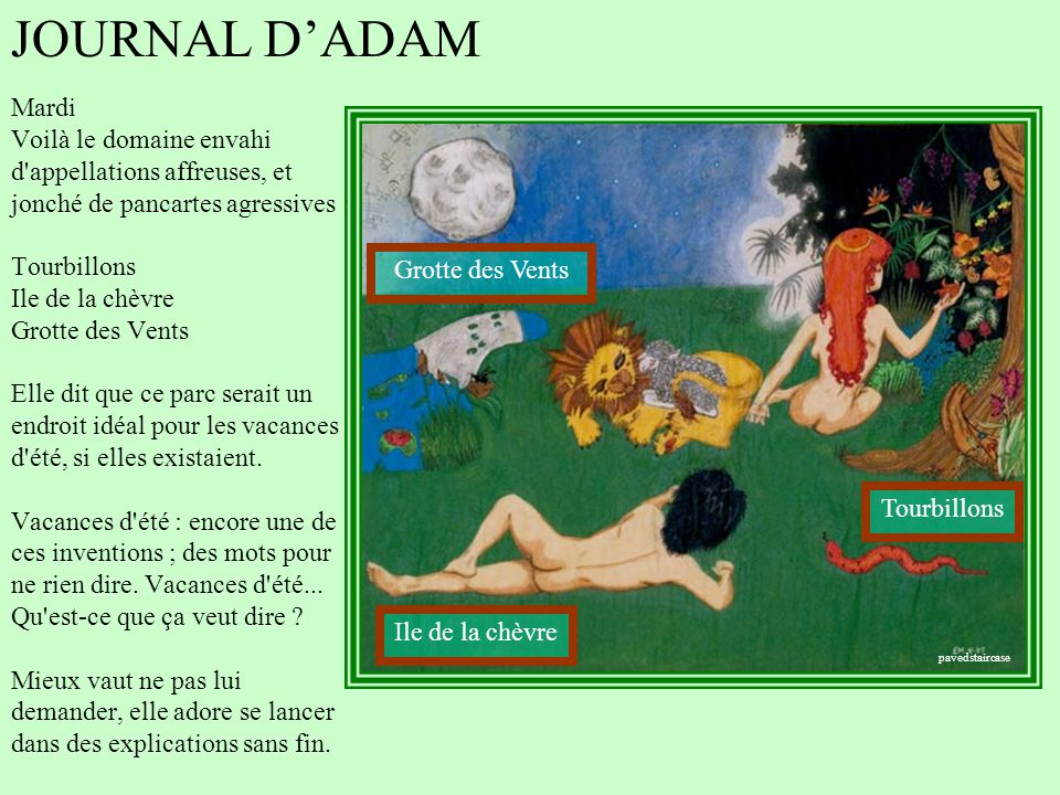 JOURNAL D'ADAM