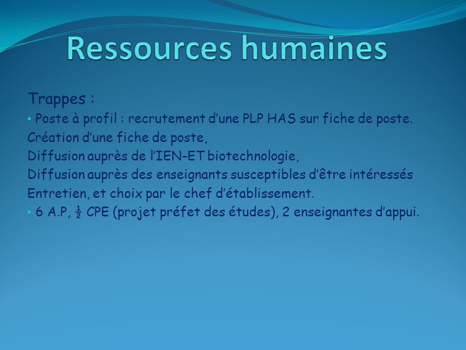 Ressources humaines Trappes :