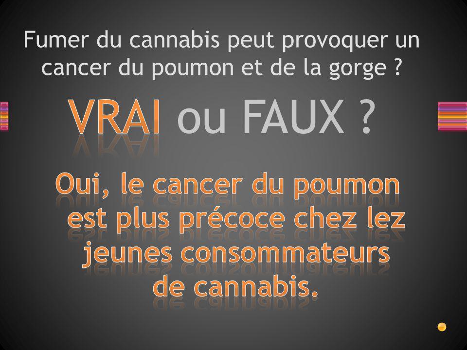 Fumer du cannabis peut provoquer un cancer du poumon et de la gorge