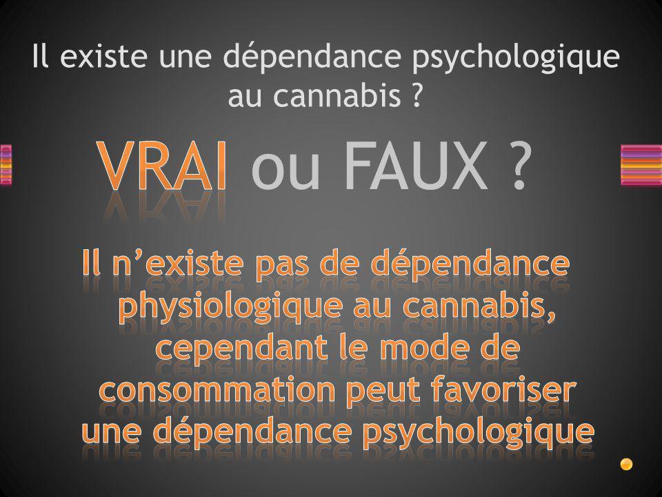 Il existe une dépendance psychologique au cannabis