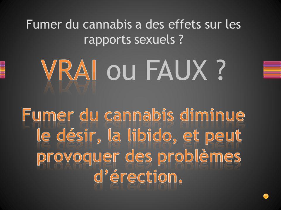 Fumer du cannabis a des effets sur les rapports sexuels