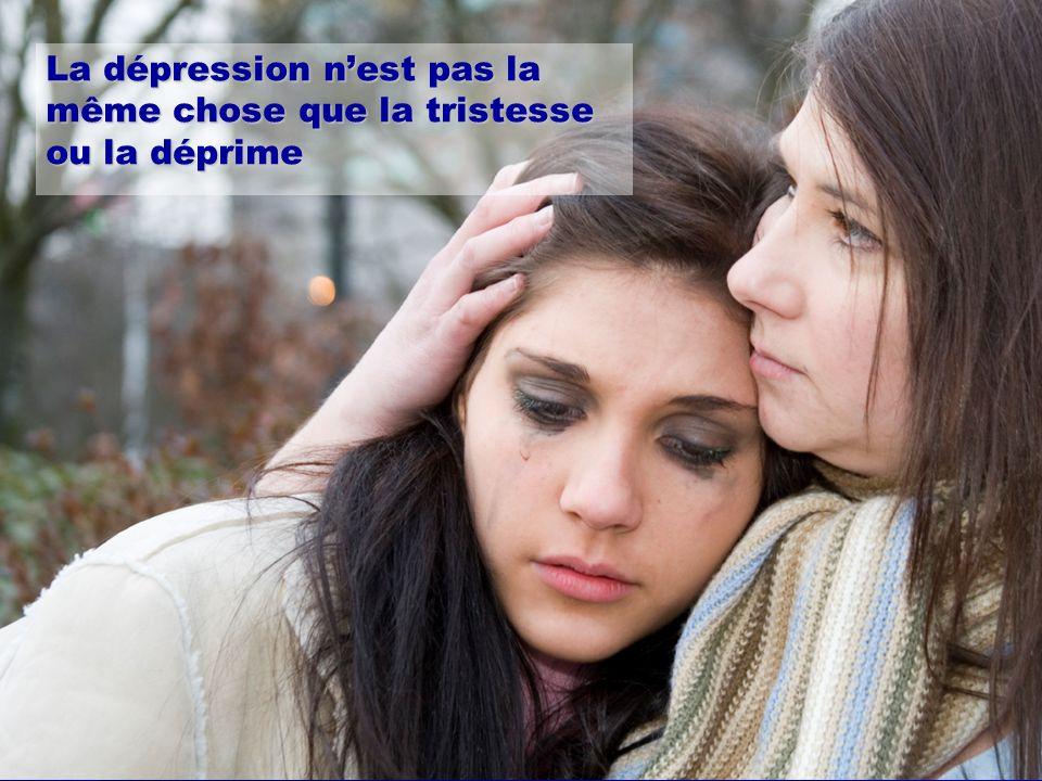 La dépression n'est pas la même chose que la tristesse ou la déprime