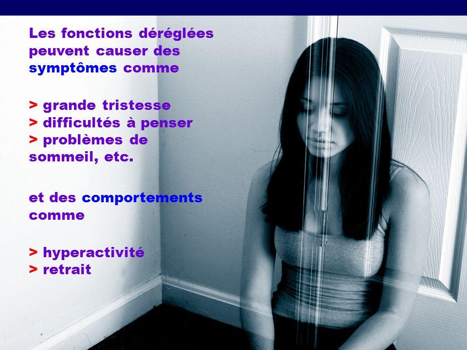 Les fonctions déréglées peuvent causer des symptômes comme