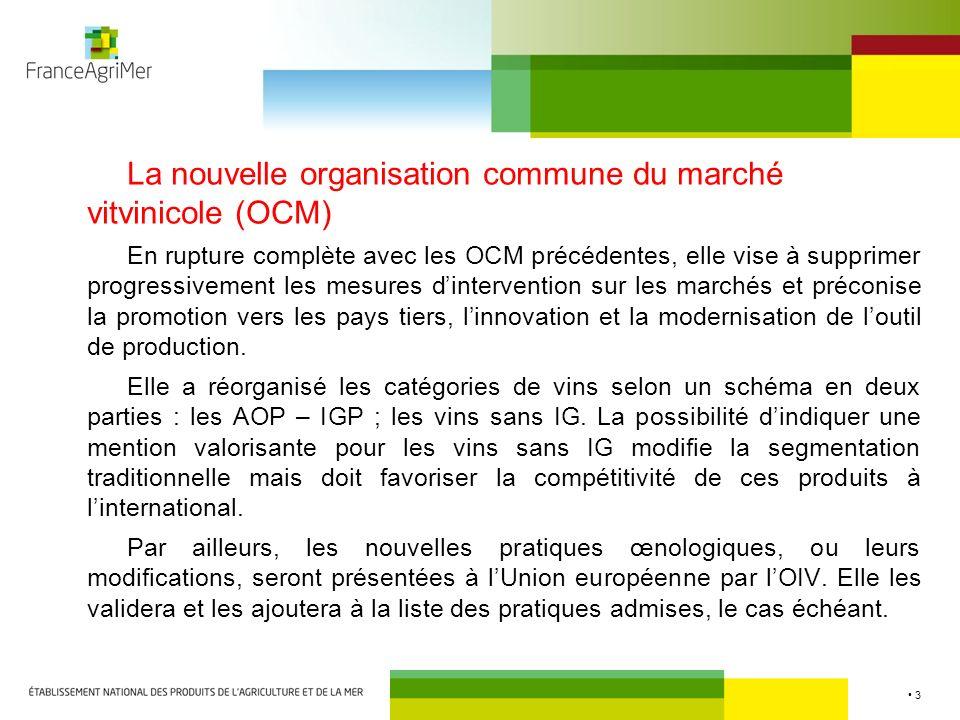 La nouvelle organisation commune du marché vitvinicole (OCM)