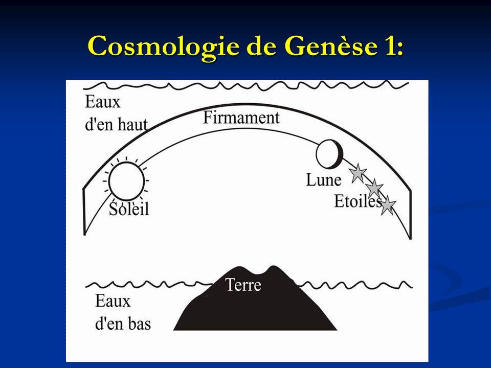 Cosmologie de Genèse 1: