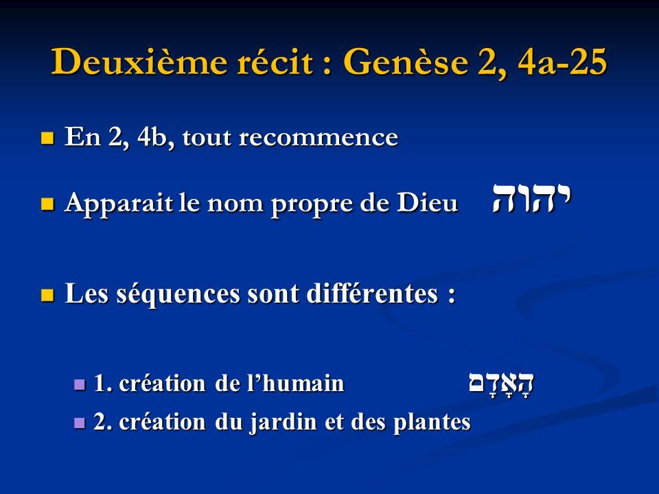 Deuxième récit : Genèse 2, 4a-25