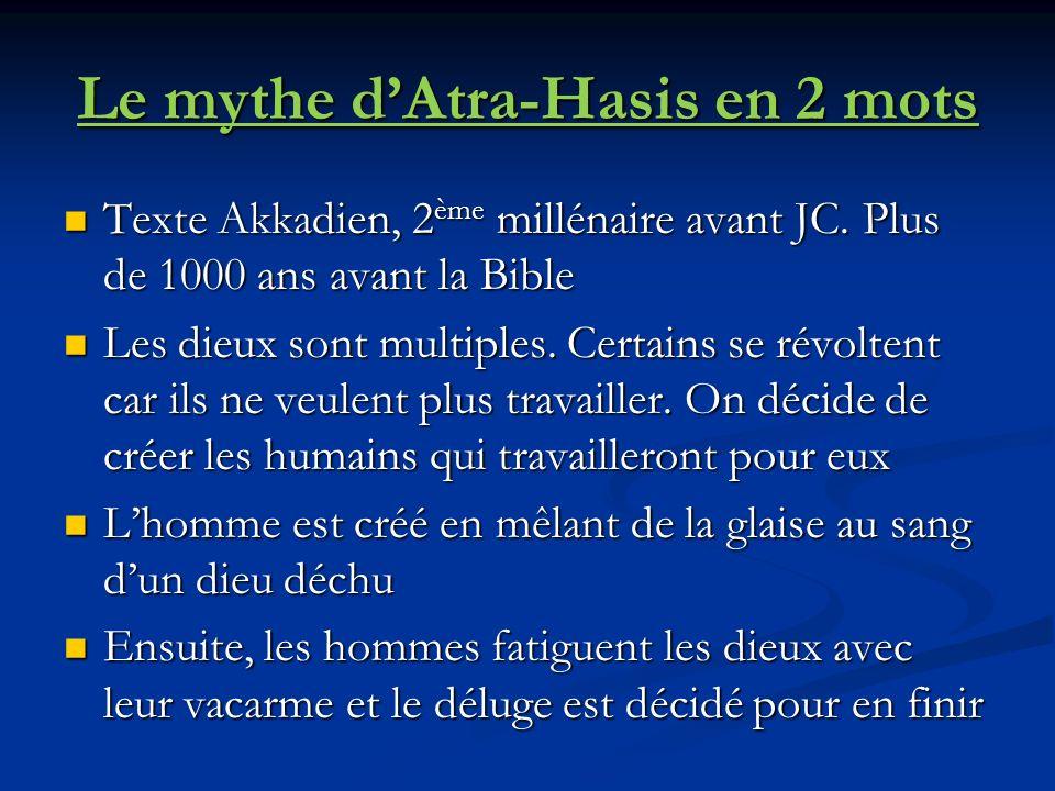 Le mythe d'Atra-Hasis en 2 mots