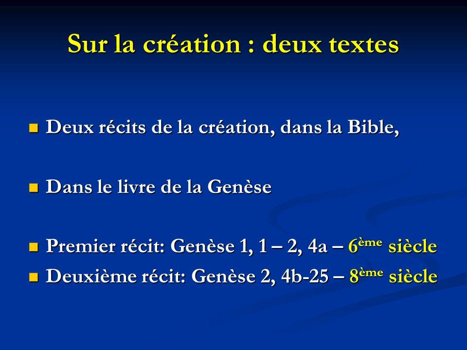 Sur la création : deux textes