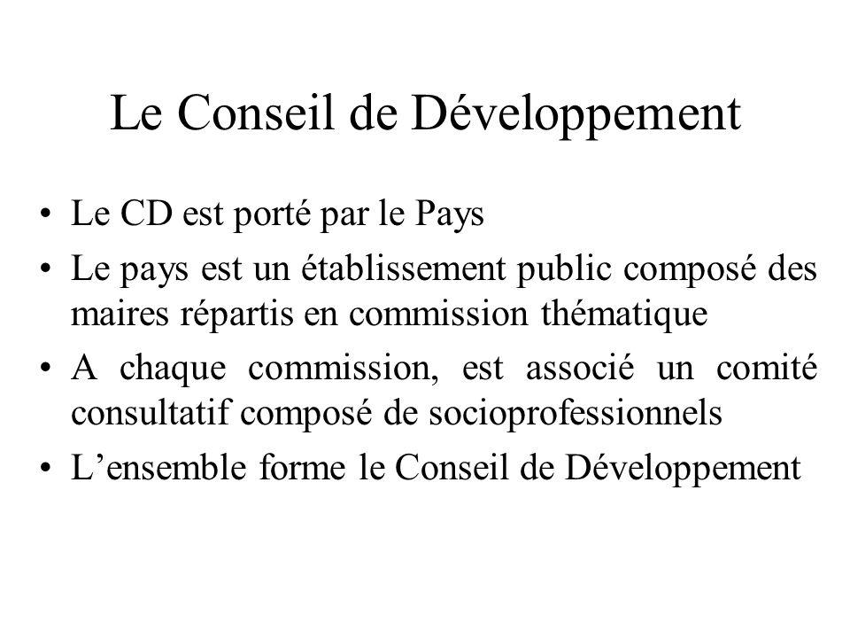 Le Conseil de Développement