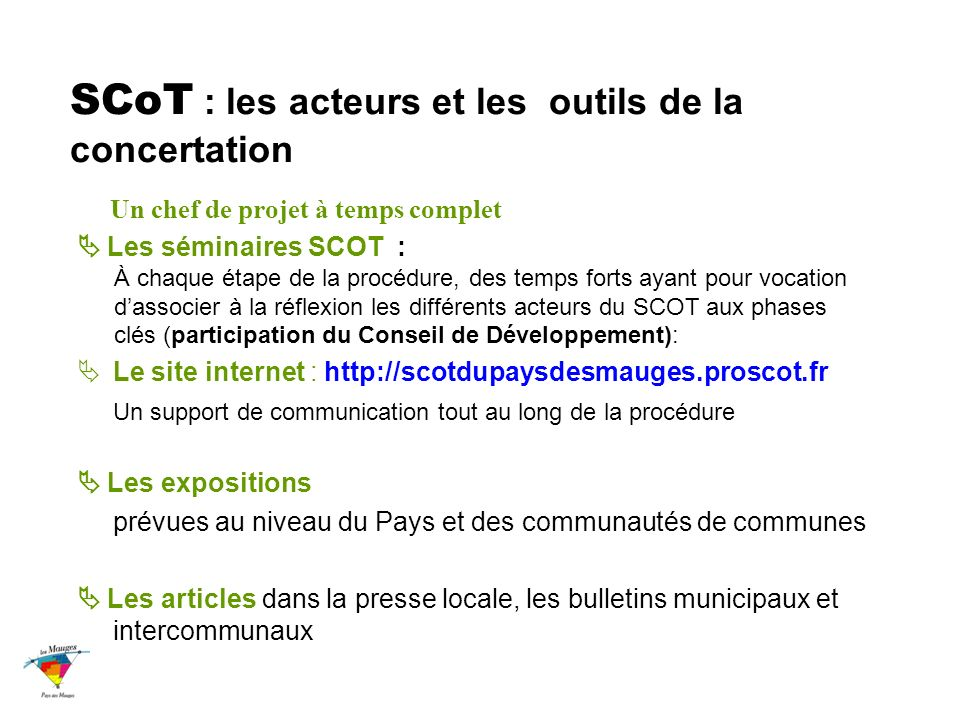 SCoT : les acteurs et les outils de la concertation
