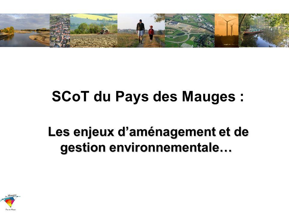 SCoT du Pays des Mauges : Les enjeux d'aménagement et de gestion environnementale…