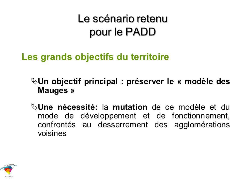 Le scénario retenu pour le PADD