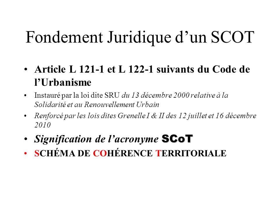 Fondement Juridique d'un SCOT