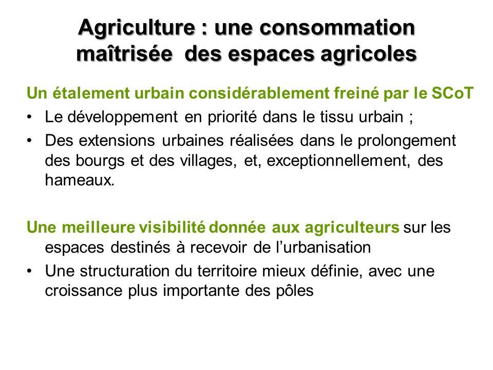 Agriculture : une consommation maîtrisée des espaces agricoles