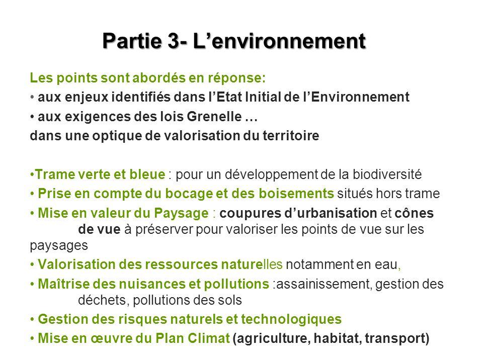 Partie 3- L'environnement