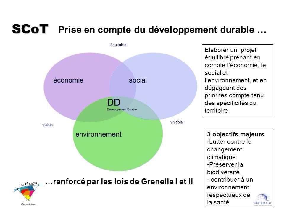 SCoT Prise en compte du développement durable … DD