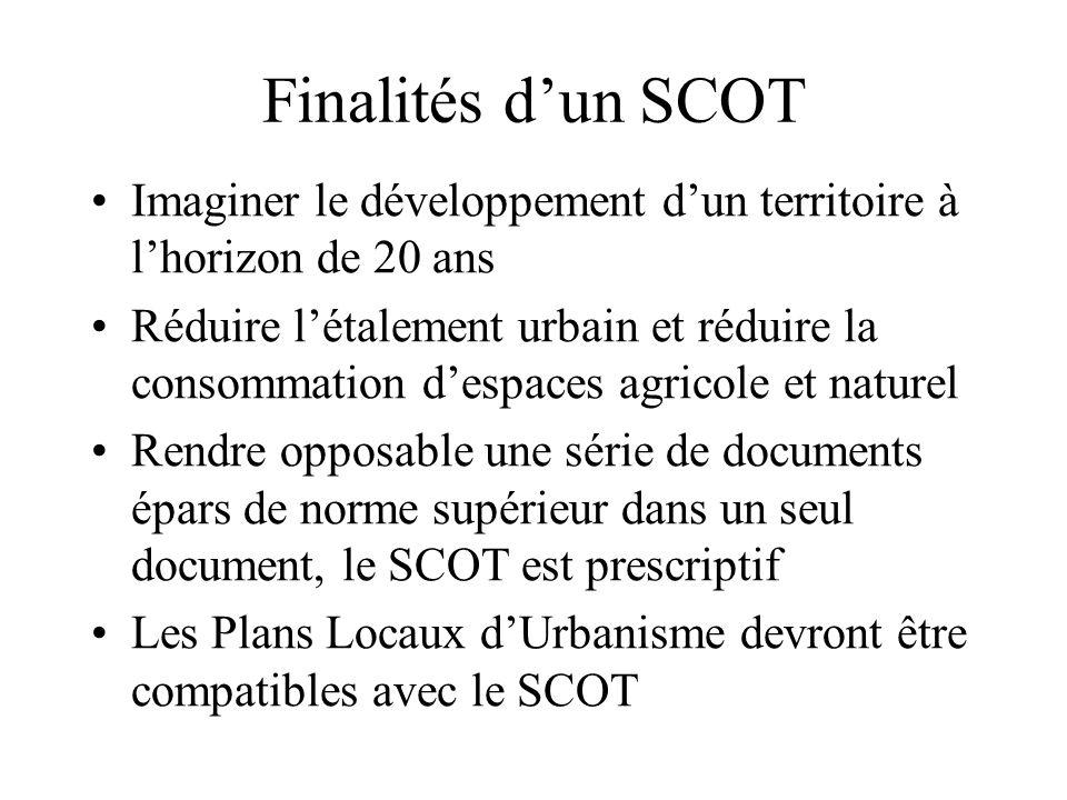 Finalités d'un SCOT Imaginer le développement d'un territoire à l'horizon de 20 ans.