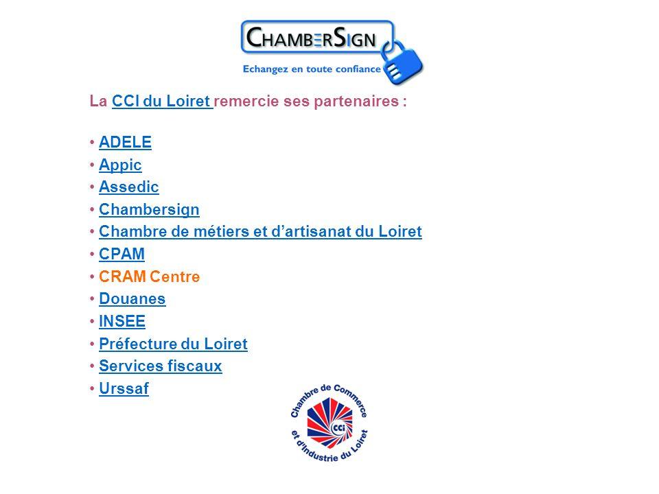 La CCI du Loiret remercie ses partenaires :