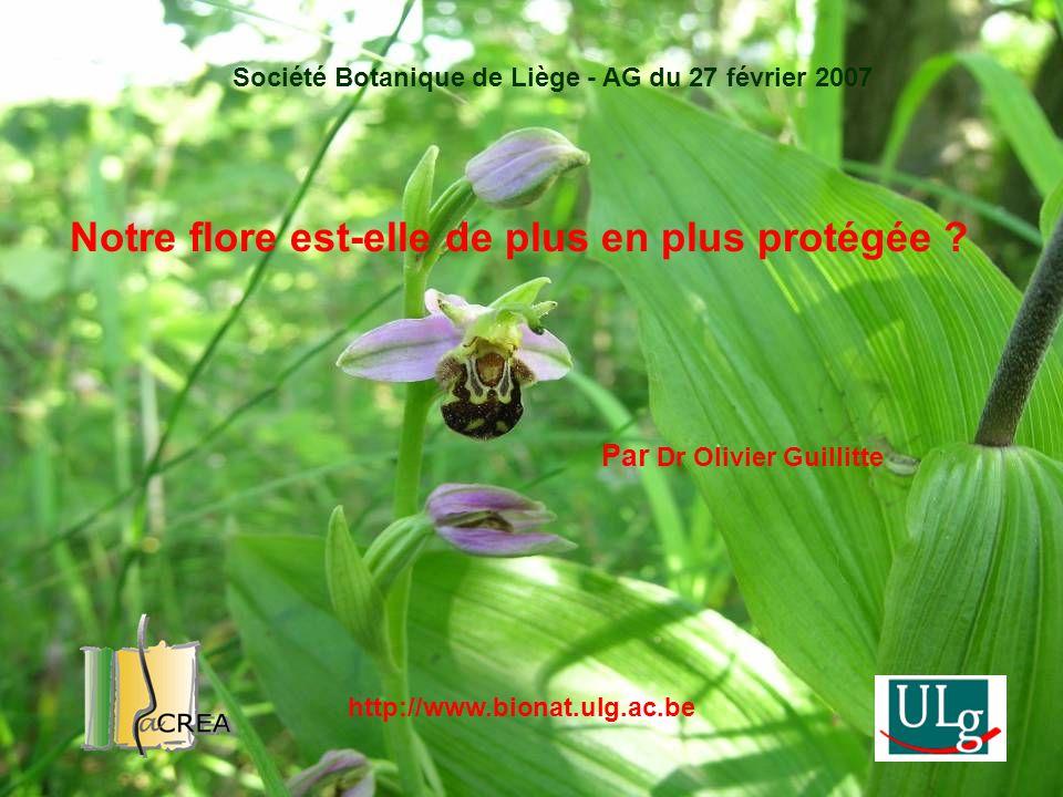 Notre flore est-elle de plus en plus protégée