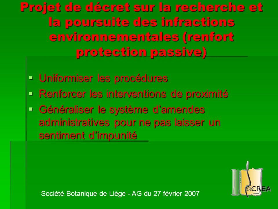 Projet de décret sur la recherche et la poursuite des infractions environnementales (renfort protection passive)