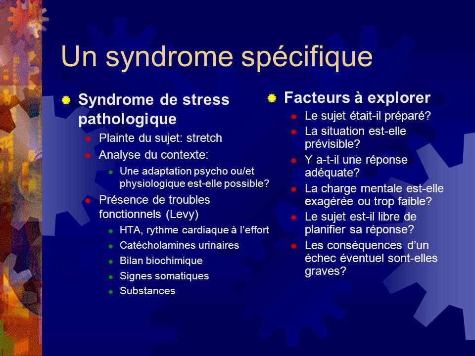 Un syndrome spécifique