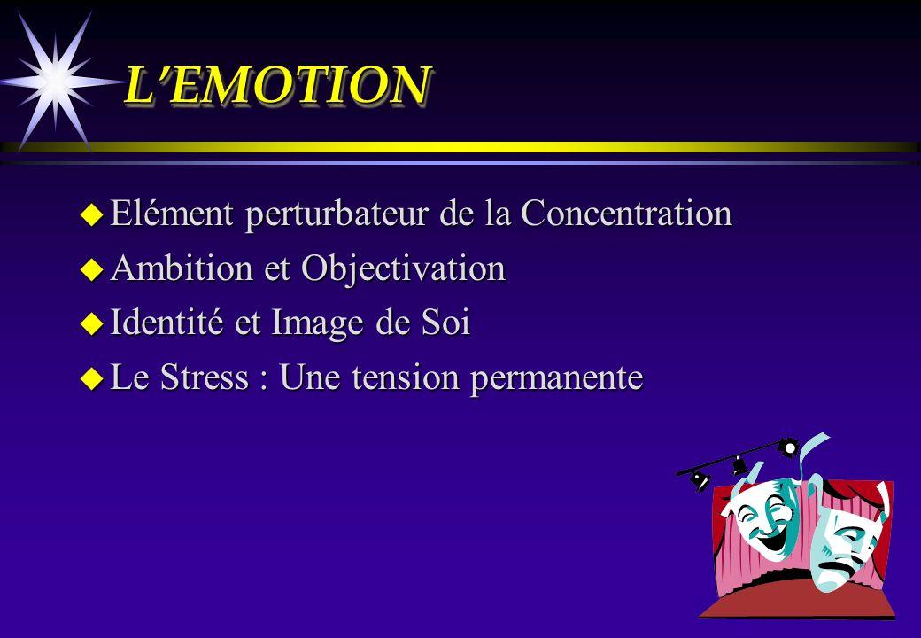 L'EMOTION Elément perturbateur de la Concentration