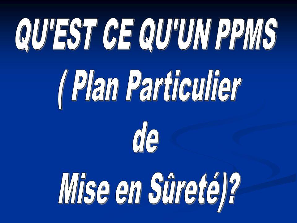 QU EST CE QU UN PPMS ( Plan Particulier de Mise en Sûreté)