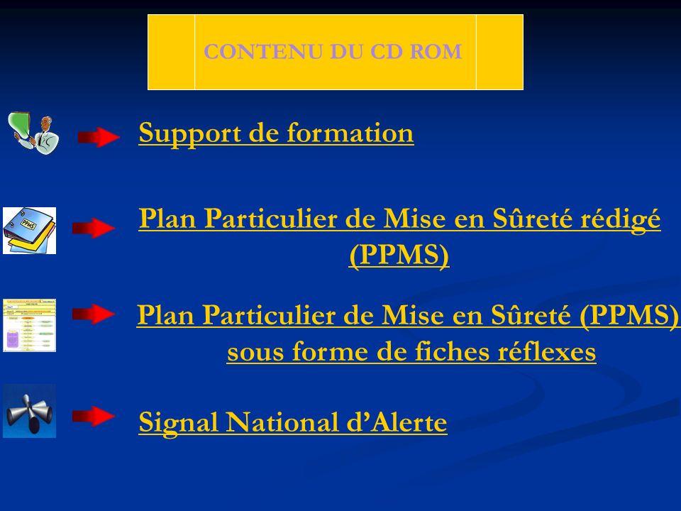 Plan Particulier de Mise en Sûreté rédigé (PPMS)