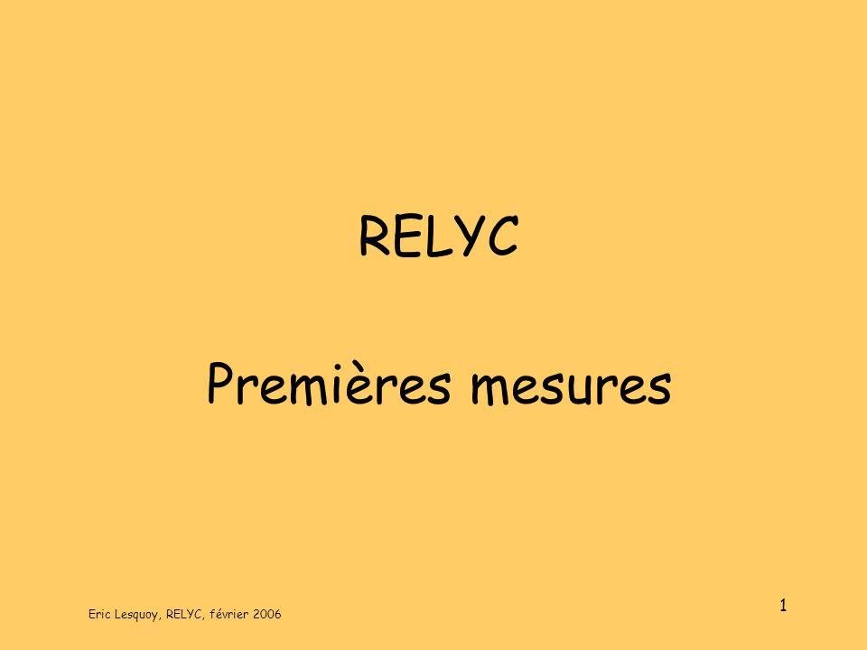 Eric Lesquoy, RELYC, février 2006