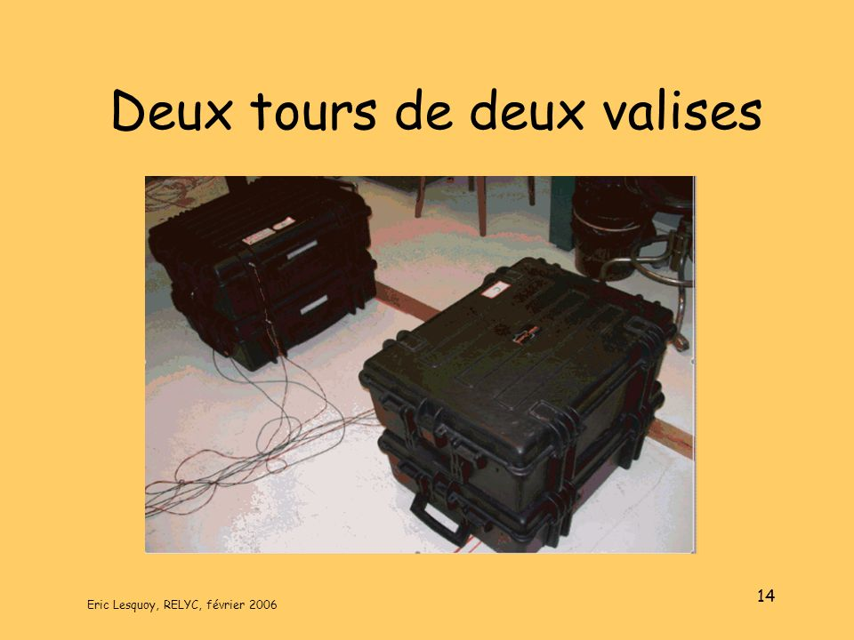 Deux tours de deux valises
